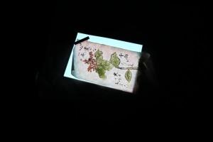 無機ELシート×和紙作品